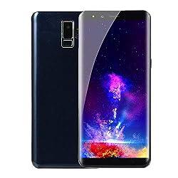 Full Screen Unlocked Smartphone | 5.7 Android Dual SIM Cell Phones, 512 RAM / 512 ROM, GSM 2G WiFi Mobile Phone Dual Camera Cellphones Telephones (Blue)