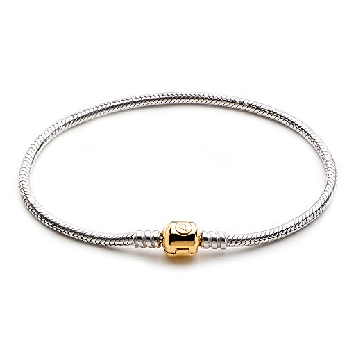 ATHENAIE 925 Sterling Silver Snake Chain With the Lock Pl...