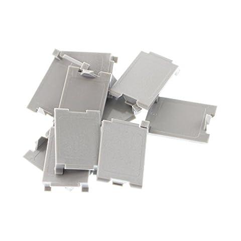 Siemon MX-BL-04 Max-Module Blank Filler Insert, Gray, (10 Pack) - Blank Filler Module