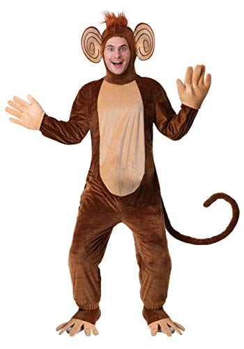 Mens Funky Monkey Costume Large Brown]()