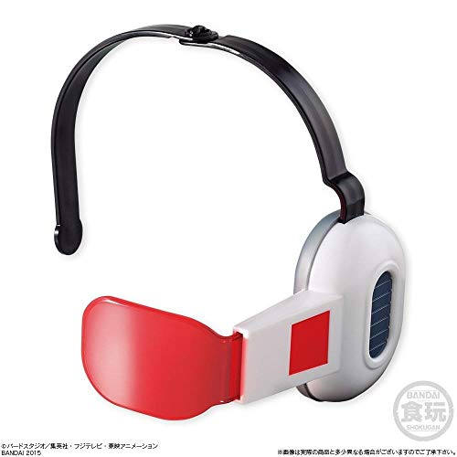 (Givingfun Bandai Dragon Ball Z Cosplay Warrior Adjustable Red Lens Scouter Toy w/1 Candy by Bandai)