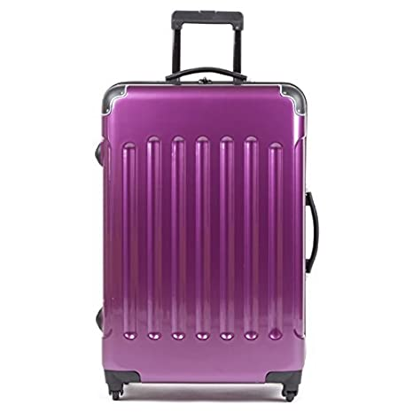 3x Maletas de viajes con ruedas de Carbono Set maletas Juego De 3 Grando Lila: Amazon.es: Equipaje