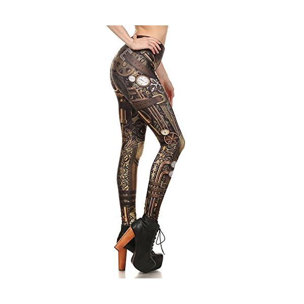 Women Steampunk Retro Leggings Comic Cosplay Punk Print Polyester Gothic Trousers Capris Pants S-4XL Plus Size 5