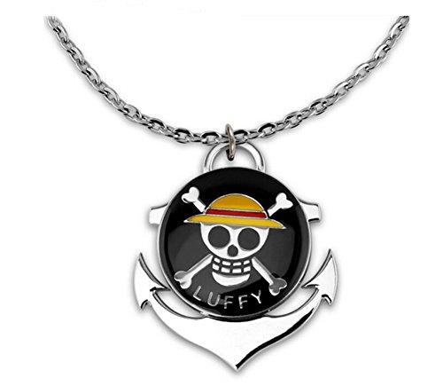 Touirch Anime One Piece Luffy Cosplay Accessory Pendant Necklace (One Piece Cosplay Accessories)
