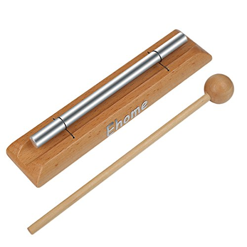 Meditation Chime, Ehome Solo Percussion Instrument with Mallet for Prayer, Yoga, Eastern Energies, Musical Chime Toys for Children, Teachers' Classroom Reminder Bell...