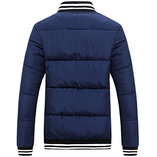 dress collar coat Winter Mianfu slim 2XL men short couples Tibet HHY Navy WZnfR