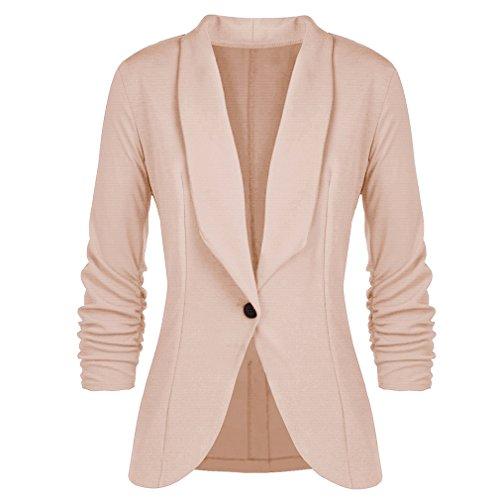 Mxssi Femmes Blazers et Vestes Travail Bureau Lady Costume Slim Button Business Lady Blazer Manteau Kaki