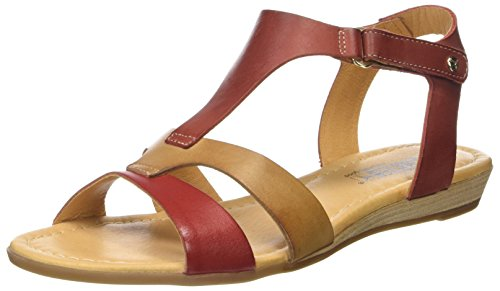 Pikolinos Women's Alcudia 816 T-Bar Sandals Red (Coral) SrsM5i3uRE
