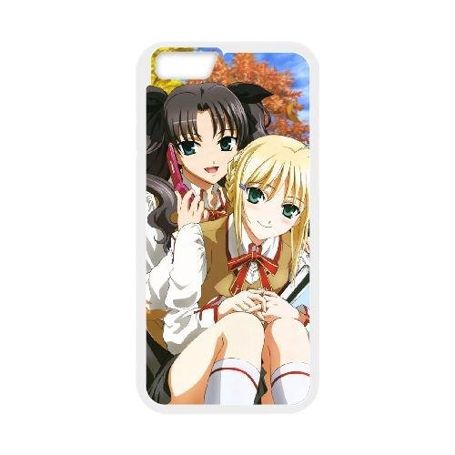 Fate Stay Night 015 coque iPhone 6 Plus 5.5 Inch Housse Blanc téléphone portable couverture de cas coque EOKXLLNCD12850