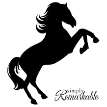 Vinyl Decal Sticker for Computer Wall Car Mac Macbook and More - Horse Decal Silhouette