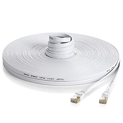 Amazon com: Hexagon Network - Ethernet Cable Cat7 Flat 25ft White