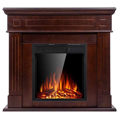 JAMFLY Electric Mantel FireplaceWood