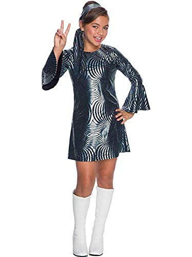 Charades Little Girl's Psychedelic Swirl Disco Diva Childrens Costume, as Shown, Large ()