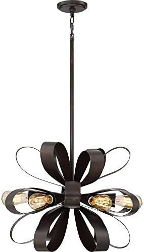 Quoizel GLA2824VZ Six Light Pendant, Large, Vino Bronze