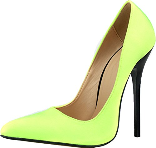 Slip Yellow Wedding Bride Womens Sexy US9 Nightclub Party Toe On Cross Abby Products High Supper A66 Satin Overside Heeled ABBY Pumps 18 Pointed Gender 4HgPvnAxx