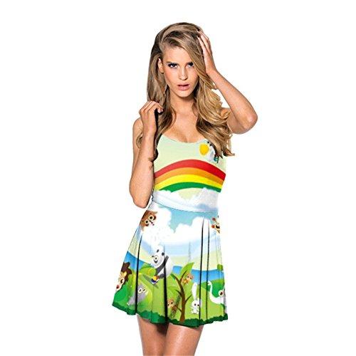 8fc182d668f8a New Summer Vestido HARLEY QUINN Print Dresses Sexy Siamese Pleated ...