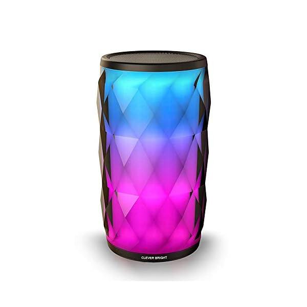 Enceinte Bluetooth Portable Lumineuse Haut-Parleur Bluetooth sans Fil avec LED Lumière Radio,Diamond Design,Camping,l'extérieur Les Voyages 1