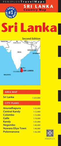 Sri Lanka Travel Map Second Edition (Periplus Travel Maps)