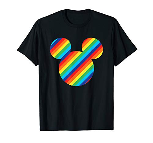 Mickey Mouse Icon - Disney Mickey Mouse Rainbow Icon T-Shirt