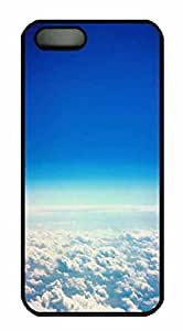 Protective PC Case Skin for iphone 5 Black PC Case Back Cover Shell for iphone 5S with Clouds