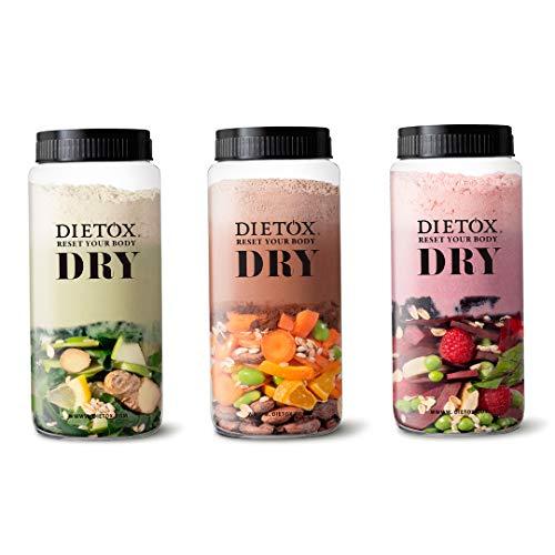 Dietox Dry Dieta Completa - 3 días de sustitución completos a base de batidos de proteína vegetal. Shaker Incl.: Amazon.es: Salud y cuidado personal