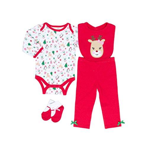 Baby Gear Christmas 4 Piece Bodysuit