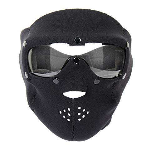 Swiss Eye - Swiss Eye Neoprene Face Mask with Integrated Goggles Black Clear Lens