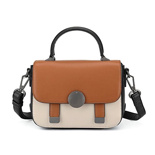 Bag Color Shoulder Saddle Shoulder Fashion Bag Messenger Tide Color Korean JIUTE Women Hit Messenger Brown Bag Ms Brown SxtwI1qqZ4