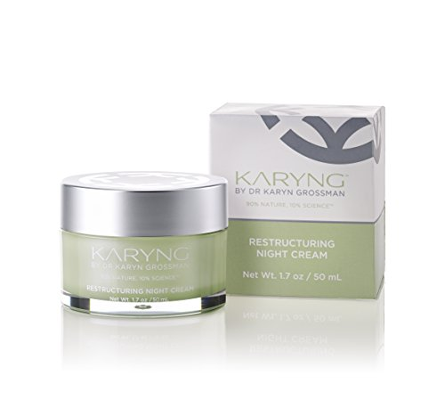 Restructuring Night Cream by KARYNG - Sensitive Skin Care Night Moisturizer with Natural Ingredients and Pro-Verte Technology - Visibly Reduces the Appearance of Lines & Wrinkles - Paraben Free - 1.7