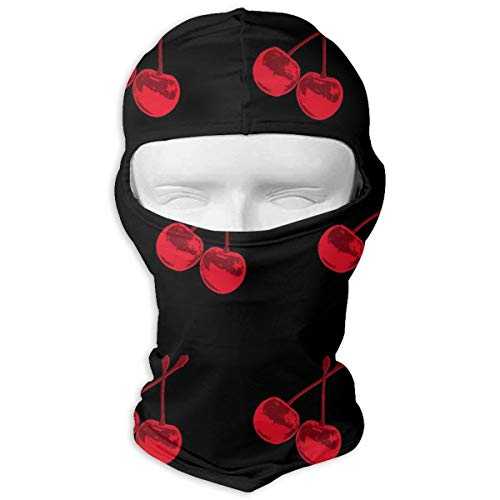 O-X_X-O Red Cherry Balaclava Windproof & Dust Protection Motorcycle Helmet Liner Soft and Breathable Face Mask Warmer Balaclava Hood - Prefect ()