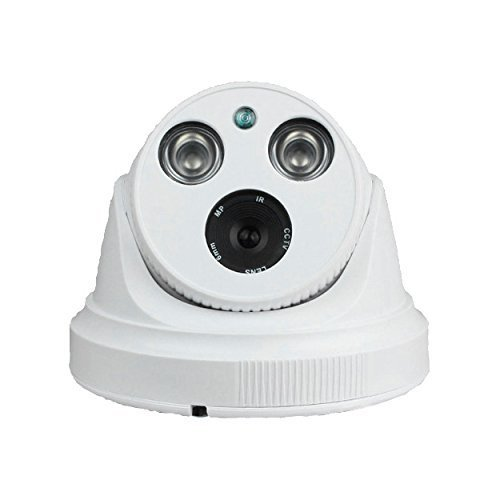 PowerLead Caue PC13 FHD Dome IR Network CCTV 1080P IP Camera with 4mm 2MP lens True Day/Night Network Surveillance Camera, CCTV DVR Video Surveillance Recorder with Progressive Scan CMOS, Waterproof Design of IP66 Dustproof, High Reliability Backlight Com