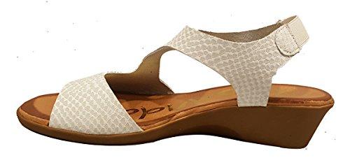 Oh my Sandals - Sandalias de mujer de Piel y piso de gel - Blanco - 3626
