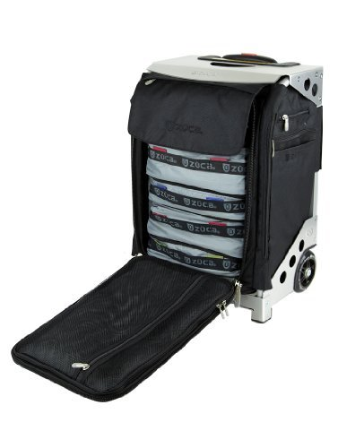 Zuca Flyer Travel Suitcase (Silver) with Seat, Packing Pouches, International Power Adapter and Charging Cable by ZUCA (Image #9)