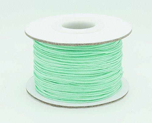 MINT GREEN 0.8mm Chinese Knot Nylon Braided Cord Shamballa Macrame Beading Kumihimo String (50yards Spool)