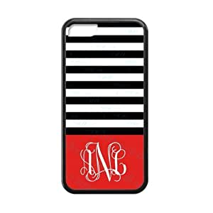 meilz aiaiInitial in Red Background with dark and light stripes Classic Design Fashion Custom Luxury Cover Case With Silicon Rubber For ipod touch 5meilz aiai
