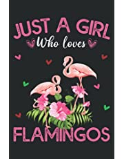 Just A Girl Who Loves Flamingos: Flamingo Blank Lined Composition Journal Notebook To Write Notes password, Notepad, To Do Lists