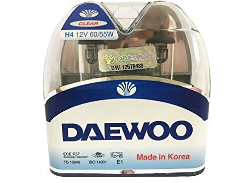 DAEWOO H4 9003 12V 60/55W Headlight Bulb, 2 pieces 1 set