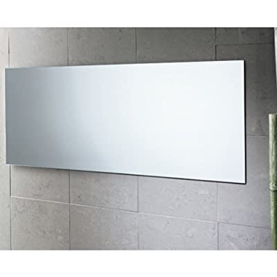"Gedy 2552-13 Planet Edge Vanity Mirror, Polished, 39"" x 16"" - Gedy wall vanity mirror H: 15.7 x W: 39.4 x D: 0.8 inches From the planet collection - bathroom-mirrors, bathroom-accessories, bathroom - 4131C9CIPyL. SS400  -"