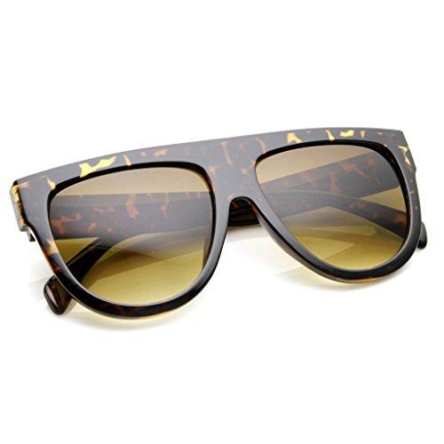 Flat Top Oversized Gradient Sunglasses Shadow Ombre - Celine Black Sunglasses Oversized