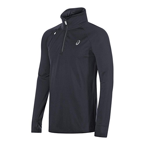 ASICS Mens Thermopolis 1/2 Zip Jacket, Performance Black, Small