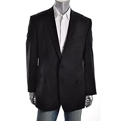 Calvin Klein Slim Fit Blazer Wool Black Solid New Men's Sport Coat