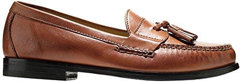Cole Haan Men's PINCH GRAND TASSEL Shoe, papaya, 10 Medium US Brown Penny Loafer