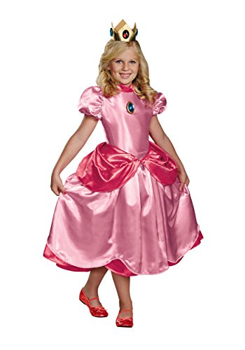 Baby Princess Peach Halloween Costume (Nintendo Super Mario Brothers Princess Peach Deluxe Girls Costume,)
