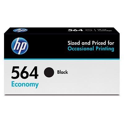 HP 564 Ink Cartridge Black Economy (B3B11AN) for HP Deskjet 3520 3521 3522 3526 HP Officejet 4610 4620 4622 HP Photosmart: 5510 5512 5514 5515 5520 5525 6510 6512 6515 - Black Hp Ink 564 Plus Photosmart