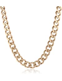 Men's Gold-Tone Stainless Steel Classic Curb Chain Necklace