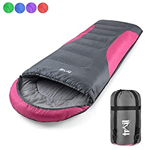 Adult Sleeping Bag 3 Season Single Person Warm Hood Carry Bag Trail Alpine 250