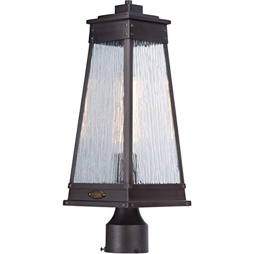 - Outdoor Post 1 Light Fixtures with Olde Brass Finish Stainless Steel Material MB 7