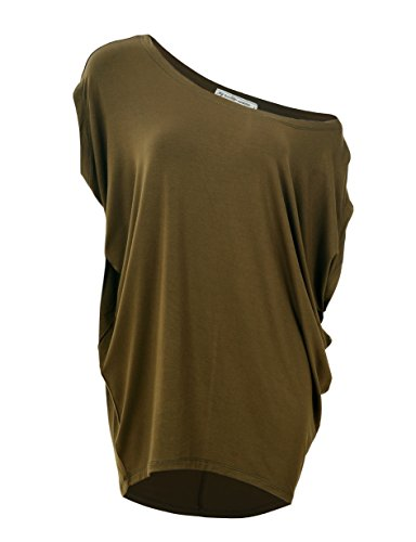 - Glostory Women's Off Shoulder Tops Women Casual Shirts and Blouses 1667 (XL, Army Green)