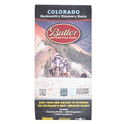 Butler Motorcycle Maps Colorado Backcountry Discovery Route Motorcycle Map, Dual-Sport Route