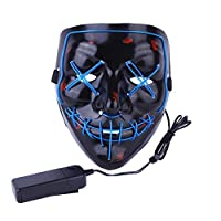 Wocst Halloween Mask LED Light up Mask for Halloween Costume